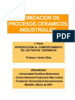 Optimización de Procesos Ceramicos Industriales No. 1