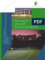 Design a tennis court, methods and techniques