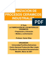 Optimización de Procesos Ceramicos Industriales No. 2