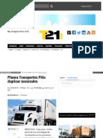 Planea Transportes Pitic duplicar sucursales