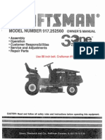 Craftsman Riding Mower 917.252560