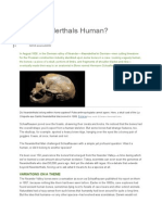 Are Neanderthals Human
