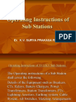 7 Operating Instructions of Sub Stations