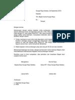 Surat Keberatan Lingkungan