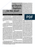 1994 Issue 4 - Does Your Church Practice Baptism for the Dead - Counsel of Chalcedon