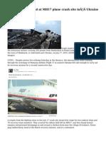 More remains found at MH17 plane crash site inUkraine