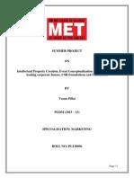 Summer Internship Project Marketing