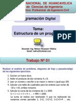 CLASE 02 Programacion Digital - Estructura de Un Programa