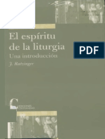Joseph Ratzinger - El Espiritu de La Liturgia