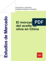 El Mercado Del Aceite Español en China 2012