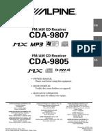 Alpine Cda 9807