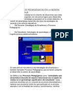 LOS PROCESOS PEDAGÓGICOS EN LA SESIÓN DE APRENDIZAJE.doc