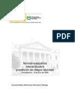Normativa Española PRL (Julio 2009)