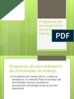 Programas de Procedimiento de Actividades Trabajo