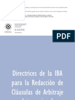 Guidelines for Drafting Intl Arbitration Clauses 2010 - SPANISH
