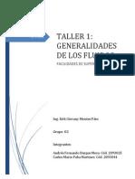 Taller 1. Generalidades de Los Fluidos