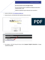 Manual de Instrucciones Para El Producto Virtual