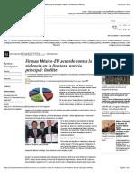 01-07-14 Firman México-EU acuerdo contra la violencia en la frontera, noticia principal