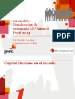 1er Estudio de Retencion de Talento Peru 2014