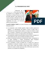 El Presidente Del Perú