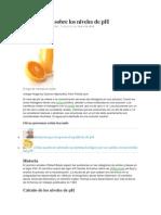 Información Sobre Los Niveles de PH