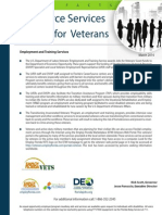 Workforce Services for Veterans