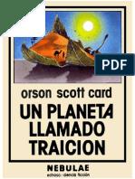 Un Planeta Llamado Traicion - Orson Scott Card