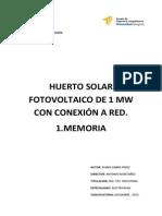 Memoria Huerto Solar