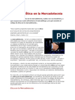 Codigo de Etica en La Mercadotecnia