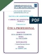 La Vocacion y La Etica Prpfesional