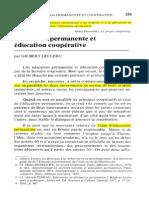 Éducation Permanente Et Coopérative