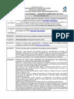 Calendário Do Ppga 2014 - II Semestre