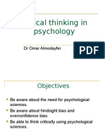 2nd lecture critical thinking in psychology