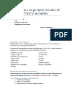 Educación a Un Paciente Usuario de TACO y Su Familia