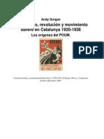 Durgan, Andy - Comunismo Revolucion y Mov. Obrero, Los Origenes Del POUM