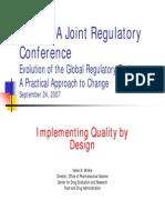 Calidad Por Diseño FDA