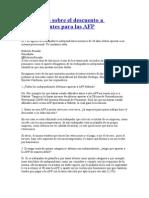 Siete Claves Sobre El Descuento a Independientes Para Las AFP