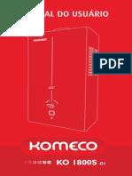 Manual Do Aquecedor Komeco Slim GLP e GN - KO 1800S