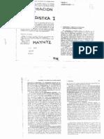 Mayntz, Investigación y Estadística I - Cap 4