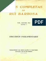 Discursos Parlamentares Rui Barbosa