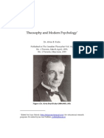 Theosophy and Modern Psychology