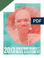 Downtown Women Needs Assessment 2013