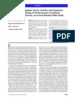 Anterior Cingulate Cortex Activity and Impaired