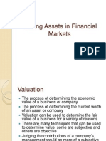 Valuing Assets in Financial Markets