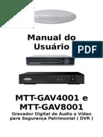 Manual de Operação - Dvr Multitronics Gav-4001 e 8001 x
