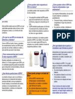 Bisphenol a Brochure Spanish