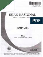 Naskah Soal Ujian Nasional IPA SMP Th 2014 Paket 06