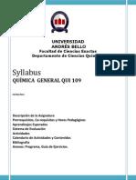 Syllabus Qui109 Catedra 2014-2