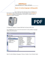 MB C3 Star Software c3 Xentry Language Setting Guide