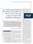 Vacuna VPH. Portugal. 2007